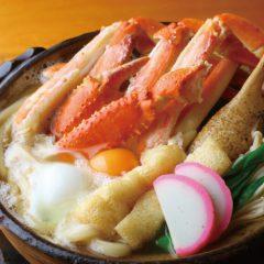 ずわい蟹の鍋焼きうどん